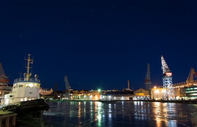 Night-time in the Bay - barrianne-photos ltd helsinki ice snow,